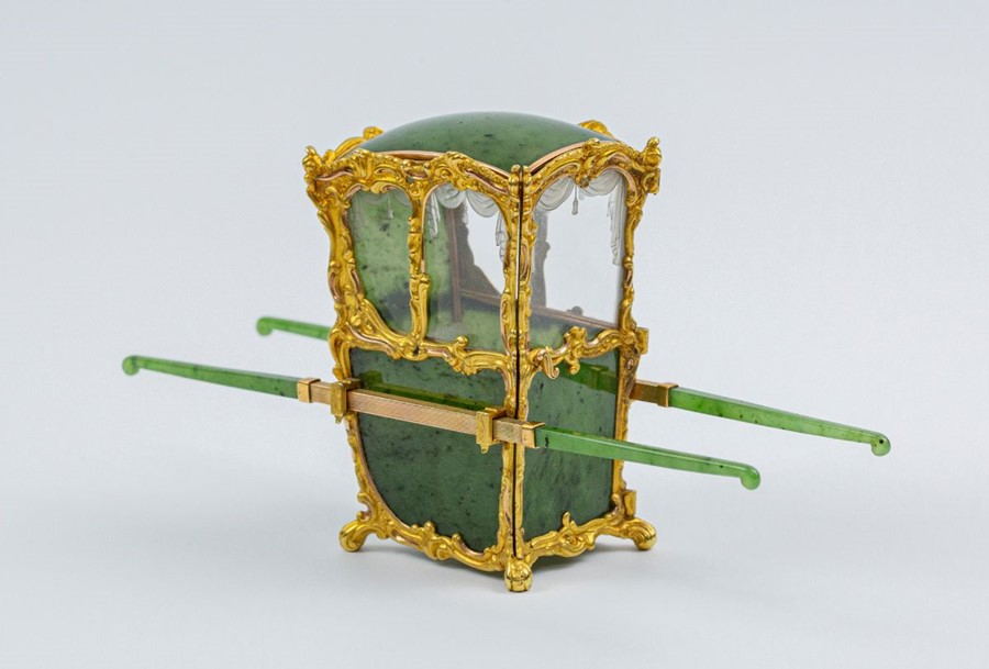 Please note:- Fabergé nephrite, rock crystal, mother-of-pearl and vari-colour gold miniature - Image 37 of 74