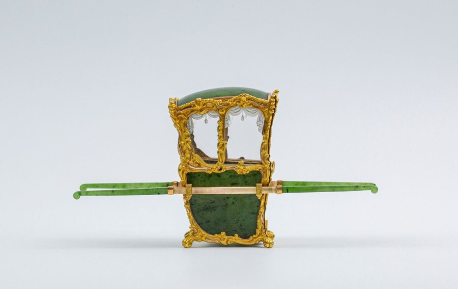 Please note:- Fabergé nephrite, rock crystal, mother-of-pearl and vari-colour gold miniature - Image 7 of 74