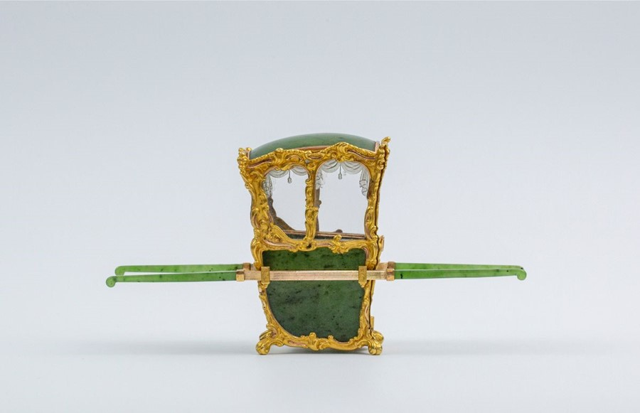 Please note:- Fabergé nephrite, rock crystal, mother-of-pearl and vari-colour gold miniature - Image 12 of 74