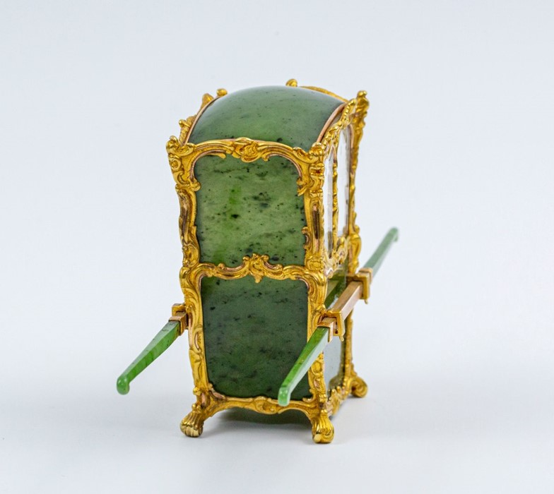 Please note:- Fabergé nephrite, rock crystal, mother-of-pearl and vari-colour gold miniature - Image 57 of 74