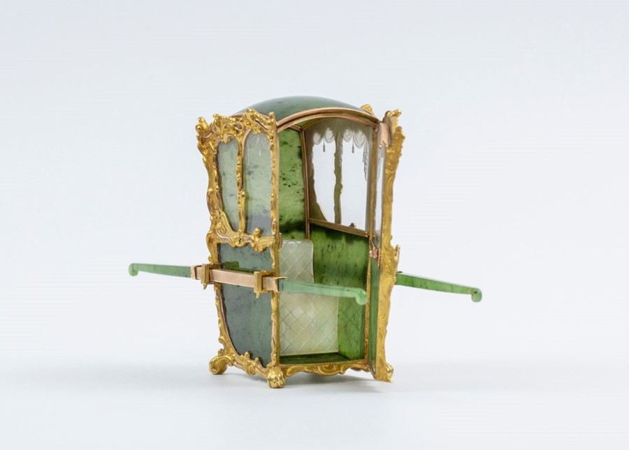 Please note:- Fabergé nephrite, rock crystal, mother-of-pearl and vari-colour gold miniature - Image 2 of 74