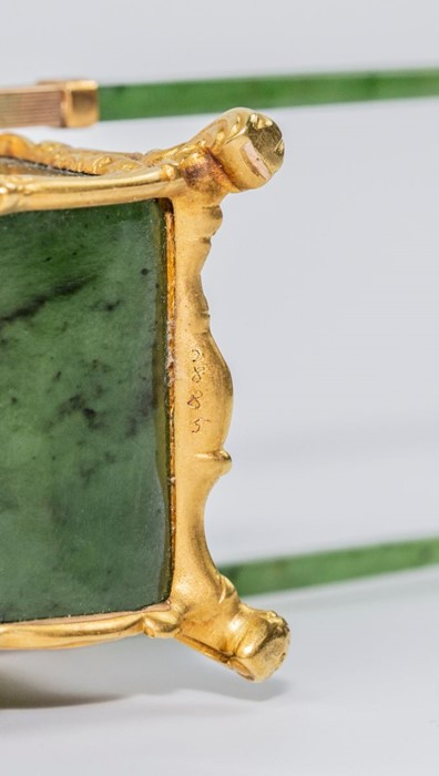 Please note:- Fabergé nephrite, rock crystal, mother-of-pearl and vari-colour gold miniature - Image 62 of 74