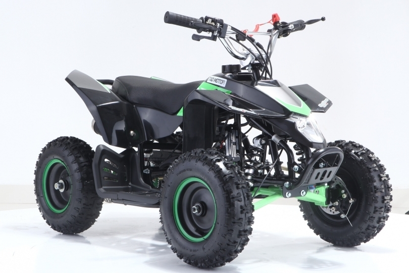 Lot 23007 - V Brand New 50cc Avenger Mini Off Road Quad Bike - Green & Black or White & Orange - Air Cooled -