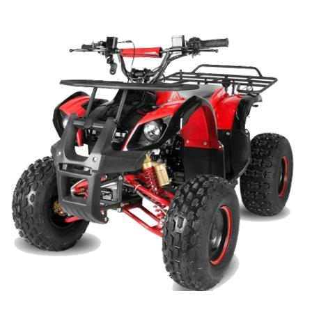 "Lot 23503 - V Brand New 125cc Mega Raptor Off Road Sports Quad Bike With ""Fat Boi"" Off Road Wheels - Electric"