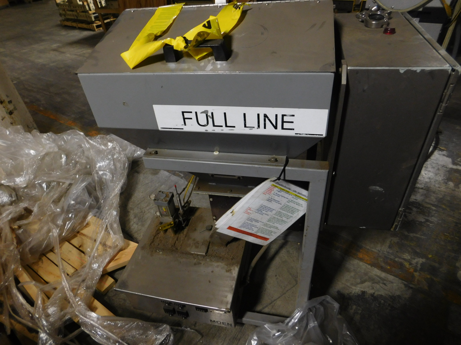 Lot 23 - Moem Glue Glue Melter ,240V,15AMPS, PHASE 3, M3A PF106-BIFQ,SN:1049,MFG. 3-2003 :equipment located
