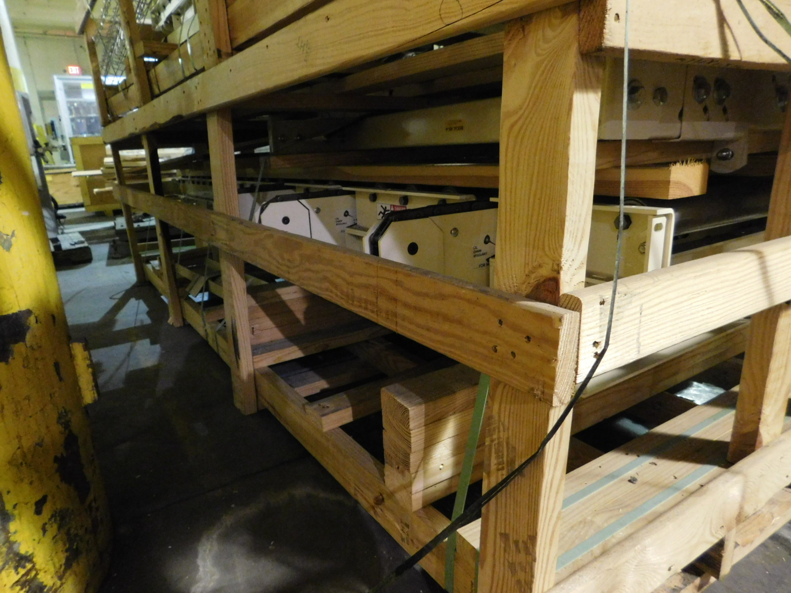 "Lot 26A - Hytrol Motorized Palletizers ?Conveyor 6'X3.3"" X2', 460v dual voltage motor, You are buying the"