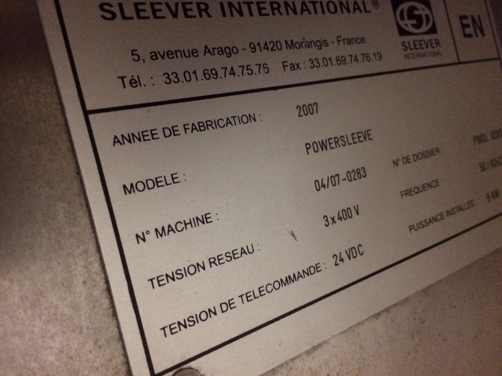 Lot 71 - Slever International , Powersleeve, Model :04/07-0283, MFG 2007 :equipment located at Clark Logistic