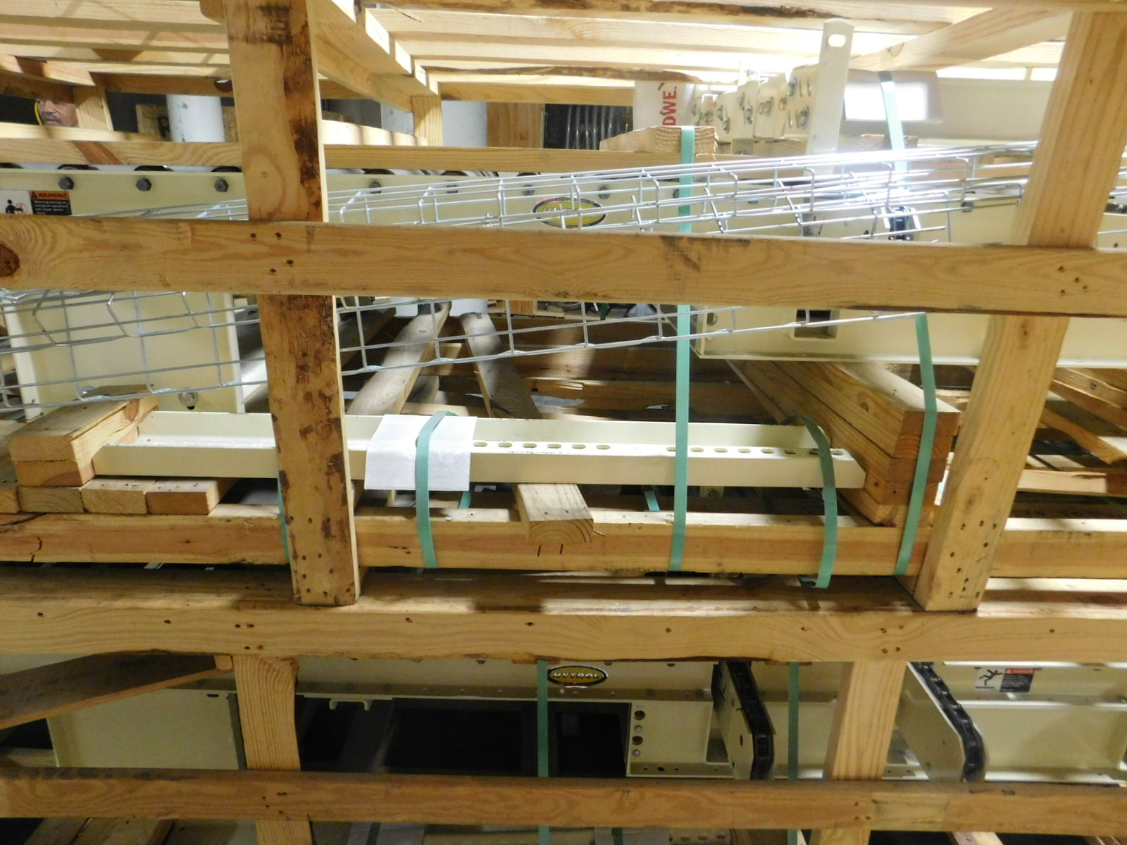 """Lot 26 - Hytrol Motorized Palletizers Conveyor 6'X3.3"""" X2', 460v dual voltage motor,You are buying top unit"""
