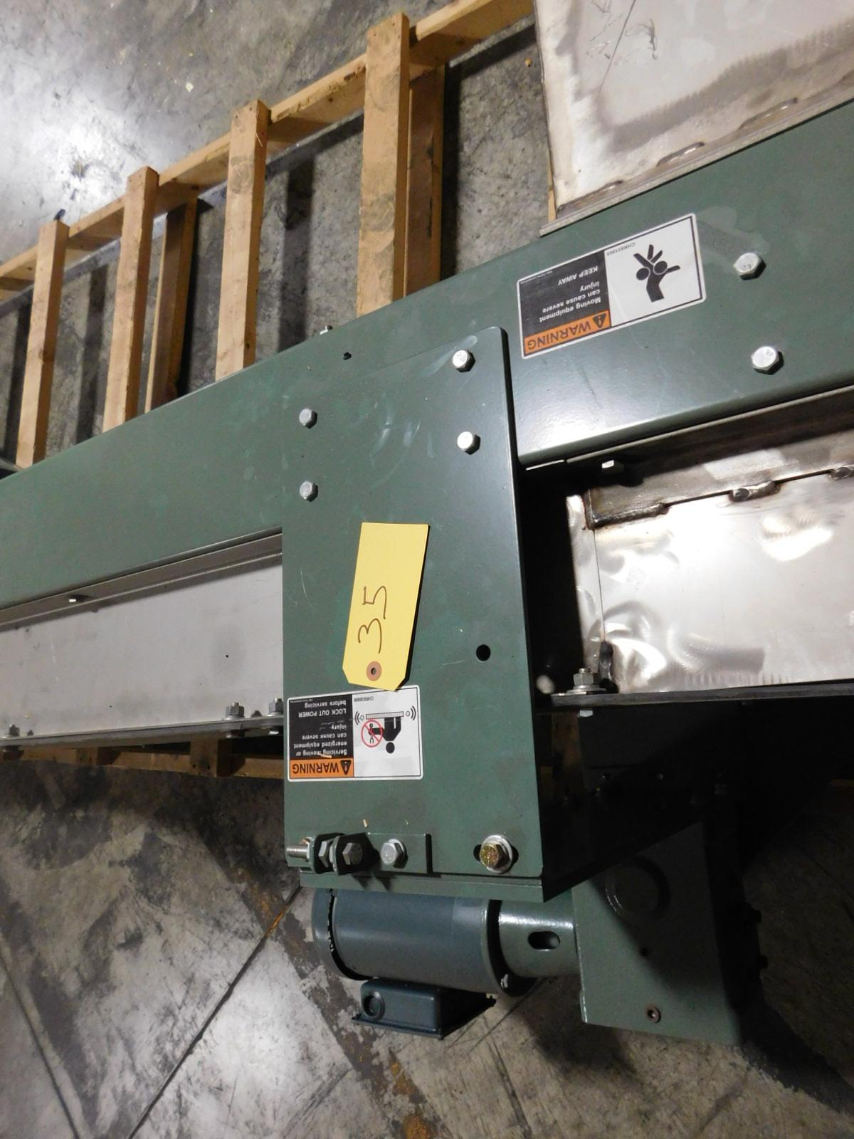 Lot 35 - Hytrol Elevator 11ft. Incline motorized conveyor,460v,3 phase :equipment located at Clark Logistic