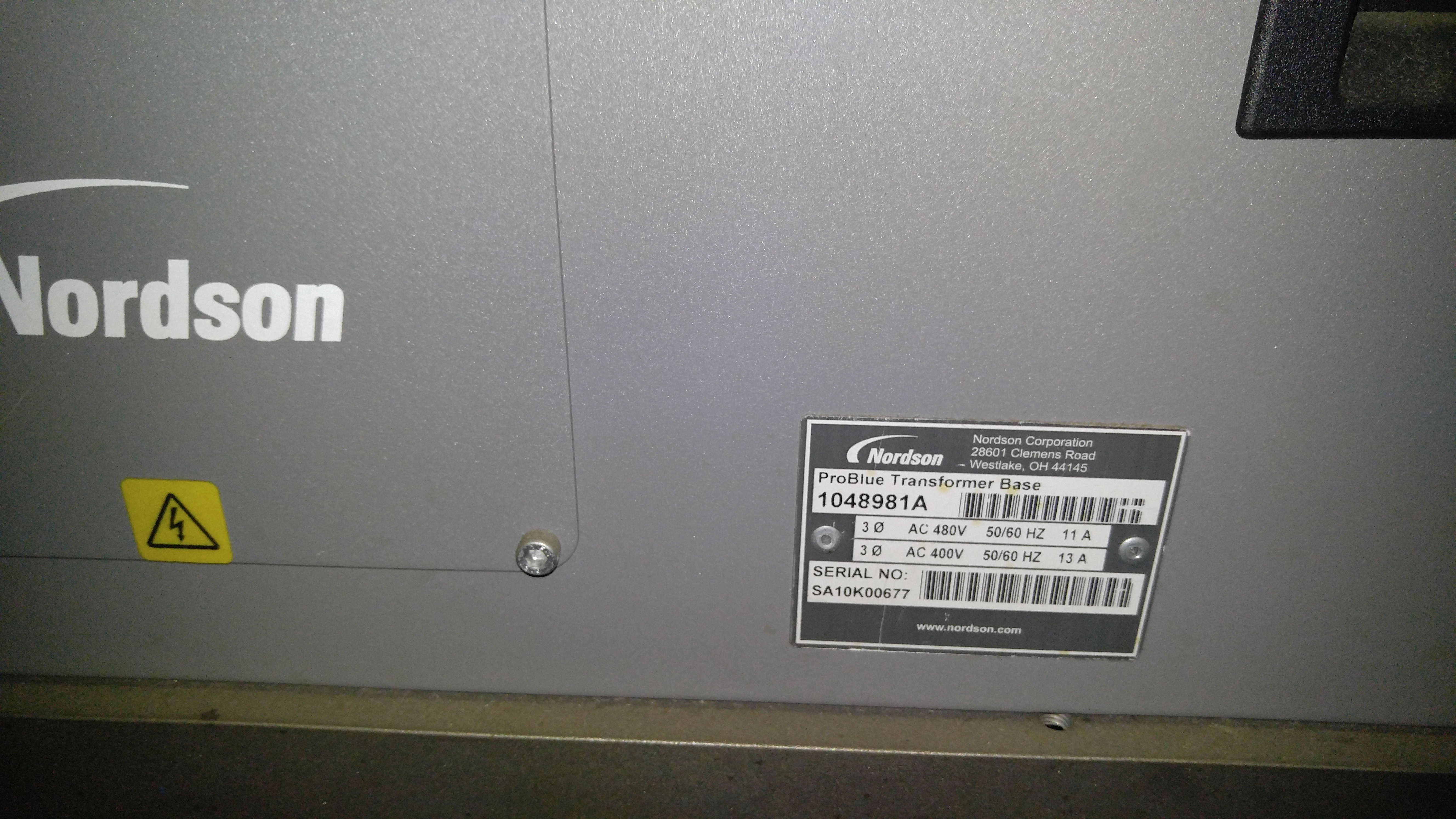 Lot 5A - Nordson Problue 15 Adhesive Melter Sn: SA10G02706 and Problue 1048981A Transformer Sn:SA10k60677,