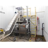 Vincent Corporation VPS Pillow Slicer SN:13085 Mfg. 2013 2-20HP MOTORS AND CONVEYORS AND HOPPER 42
