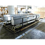 "Stainless steel conveyor 17' 2"" x 5"" qty 2 & pipes :equipment located at Clark Logistic Services 