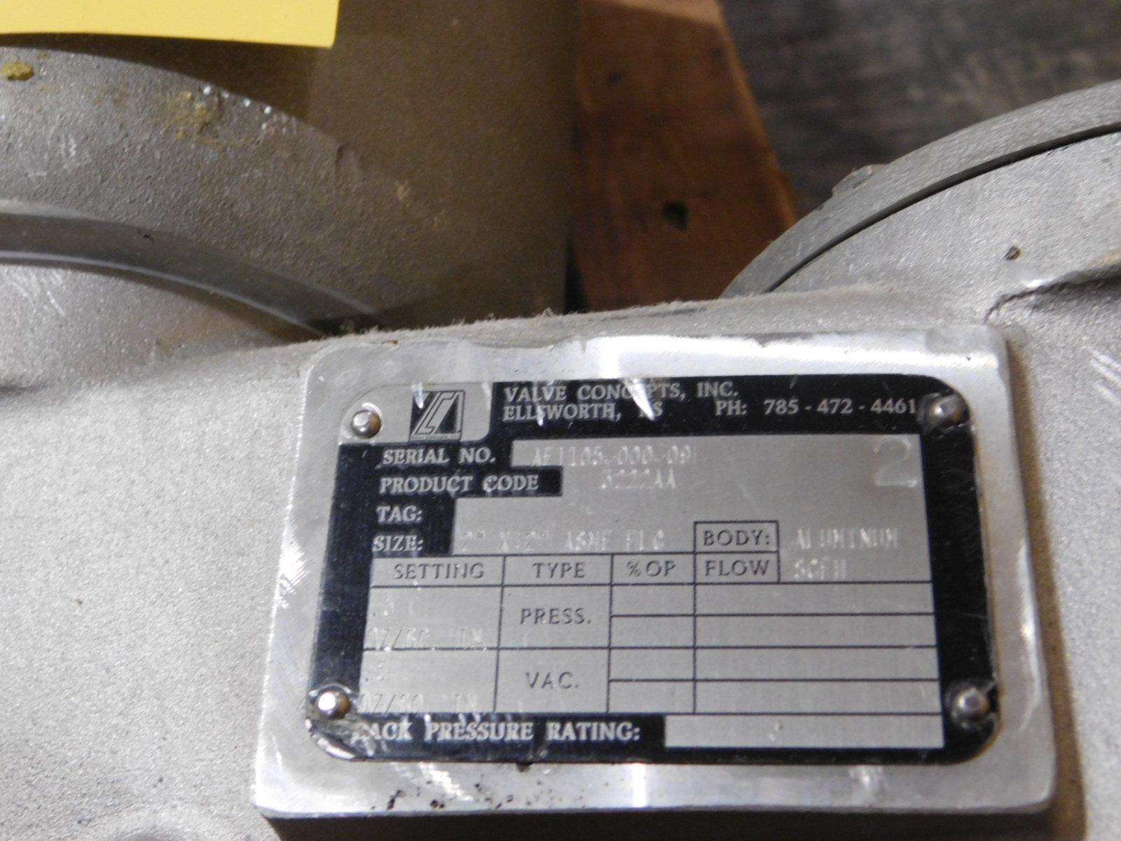 "Lot 44 - Valve Concepts inc.3222AA,2'x2"" ASME FLANGE FLOW SCPH, SN:AE1105-000-09 :equipment located at"