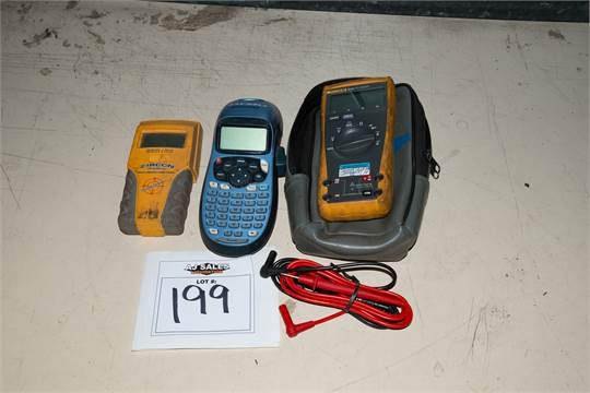 Fluke 23 III Multimeter, Dymo Label Maker, Zircon Multi Scanner