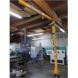Handling Systems 1/2 Ton Cap Floor Mounted Jib w/ Pneumatic Hoist