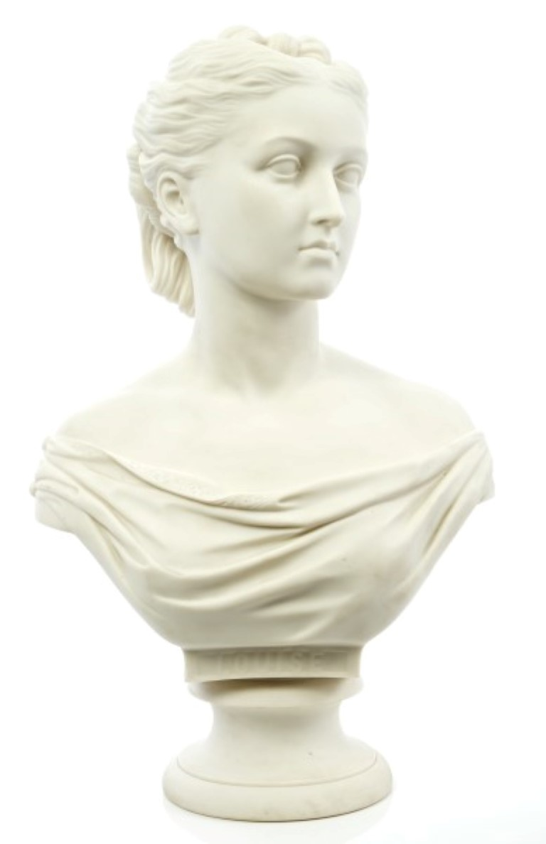 Lot 41 - Victorian Copeland Parian ware bust of HRH Princess Louise, Duchess of Argyll - the fourth