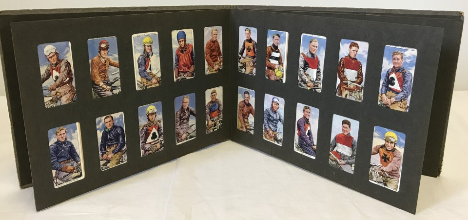 Lot 103 - 1937 Players Speedway Riders cigarette cards part set 49/50 loose in album.