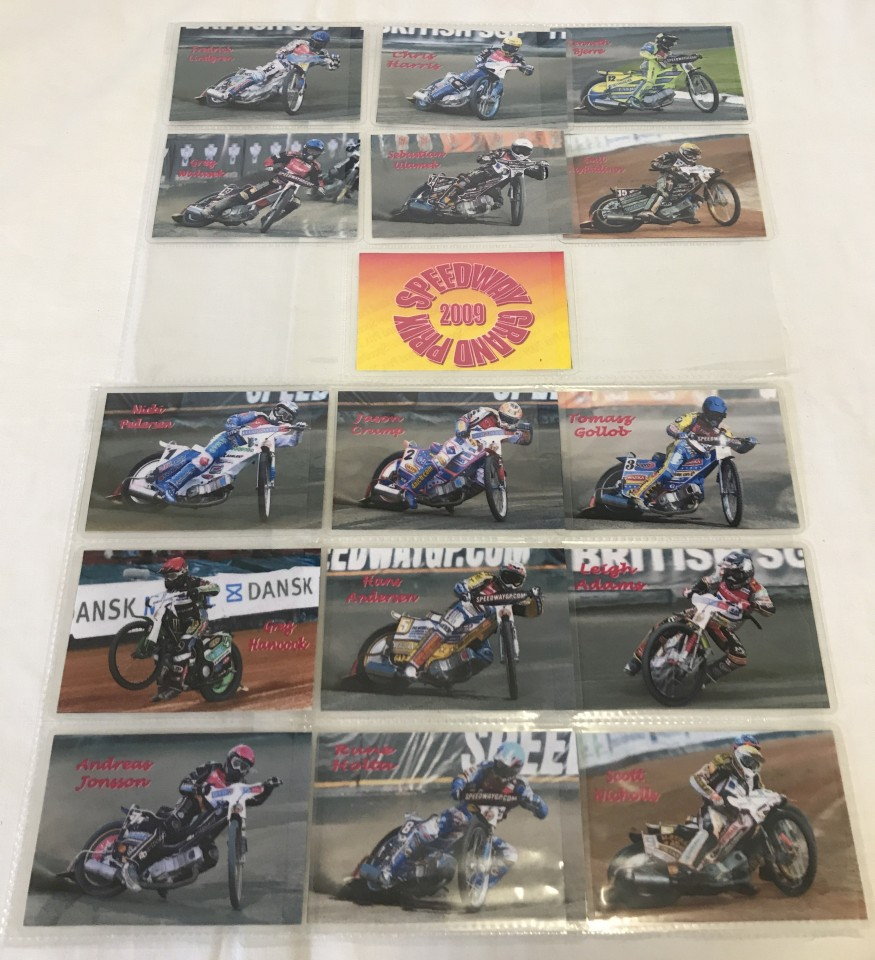 Lot 105 - A set of 16 Speedway Grand Prix 2009 riders cards.