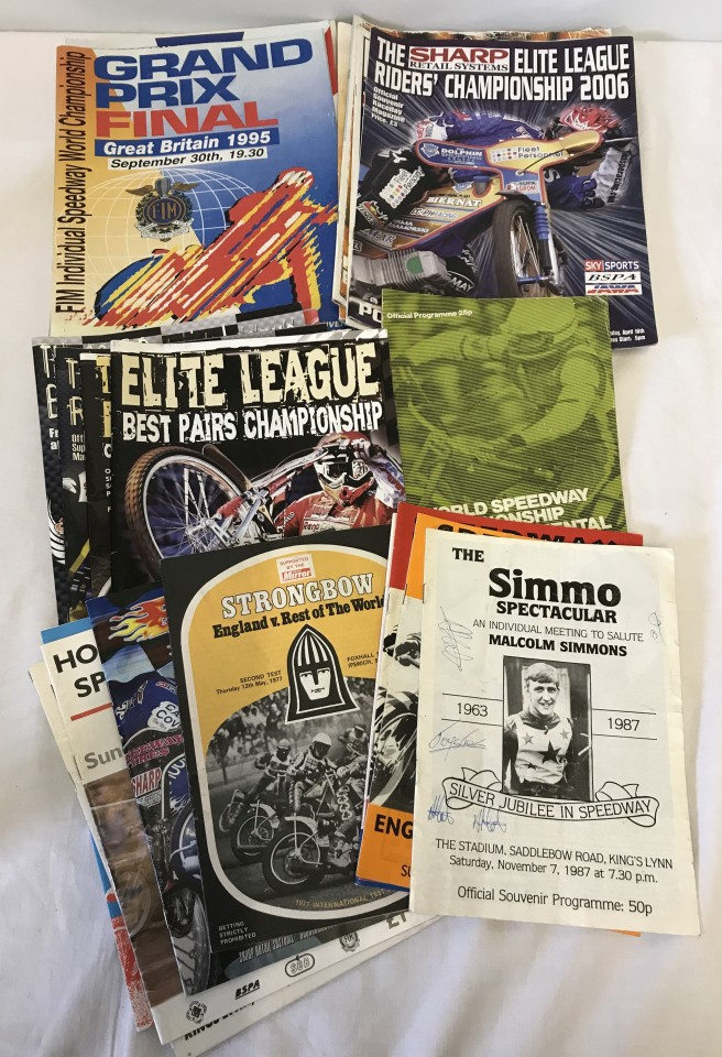 Lot 98 - A collection of 26 speedway programmes.