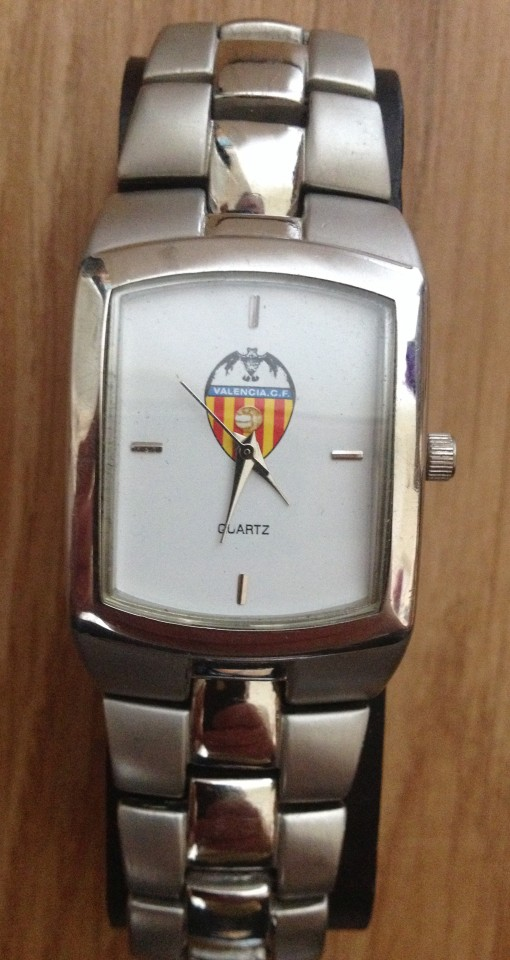 Lot 10 - A Valencia C.F. Spanish football club wristwatch.