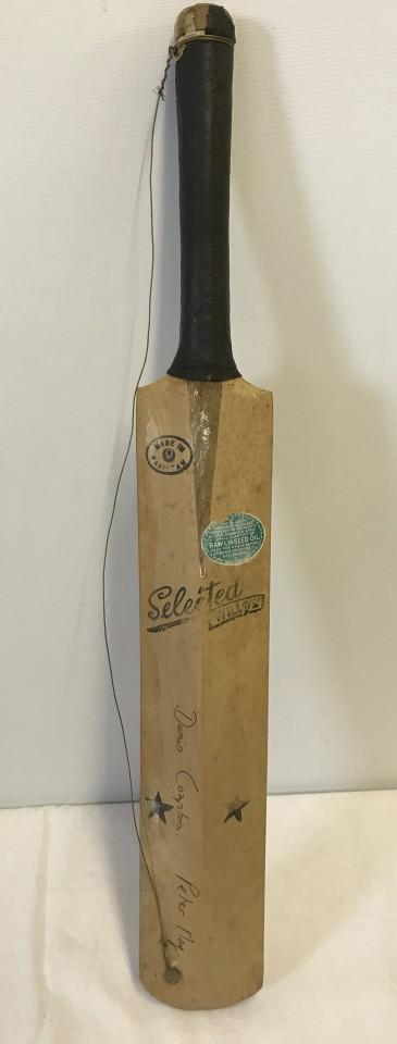 Lot 85 - A half size vintage signed cricket bat.