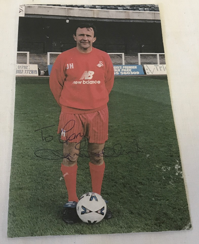 Lot 15 - A signed photograph of John Hollins, midfielder for Swansea, Chelsea, Arsenal.