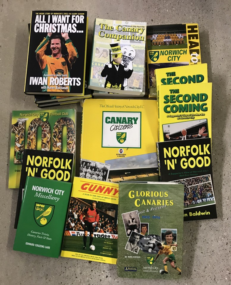 Lot 17 - A collection of books relating to Norwich City Football club.
