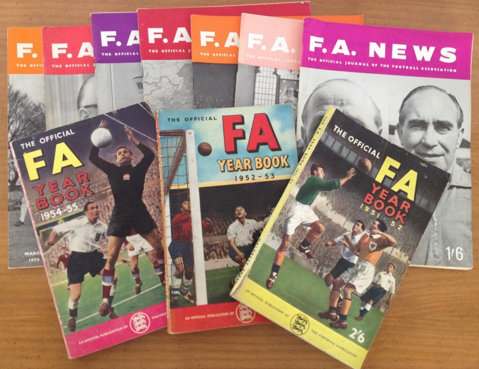 Lot 54 - 3 Official FA Year Books and 7 FA News magazines.