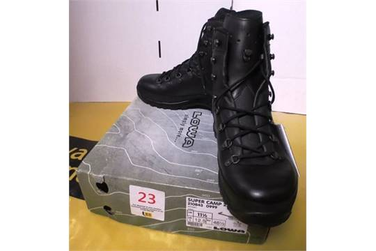 cheap sneakers on feet images of Lowa Super Camp 2 boot, black, size 11.5. Location: Unit 8 ...