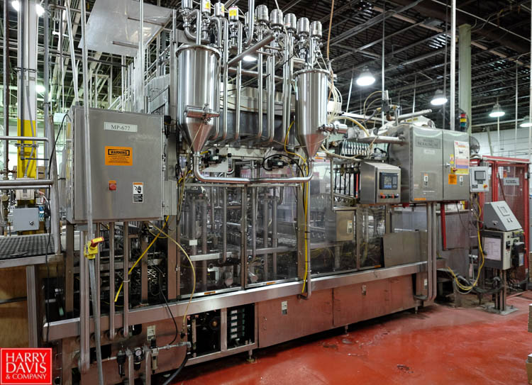 Lot 2 - Modern Packaging 8-Wide Cup Filler, with Foil Lid Applicator, 480 CPM
