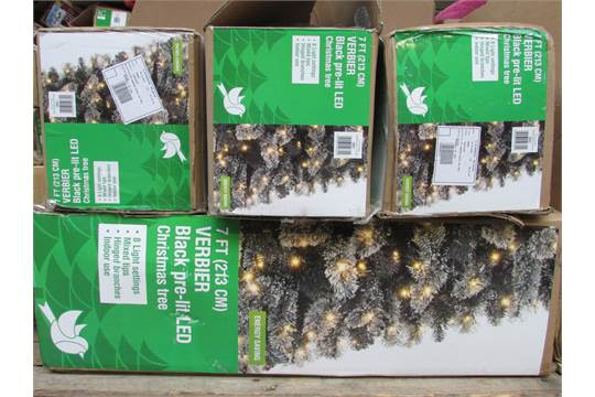 6x 7ft Verbier Pre Lit Led Christmas Tree Rrp 1633000