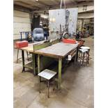 """Lot of (2) Wood Top Work Benches, 30""""x72"""" 