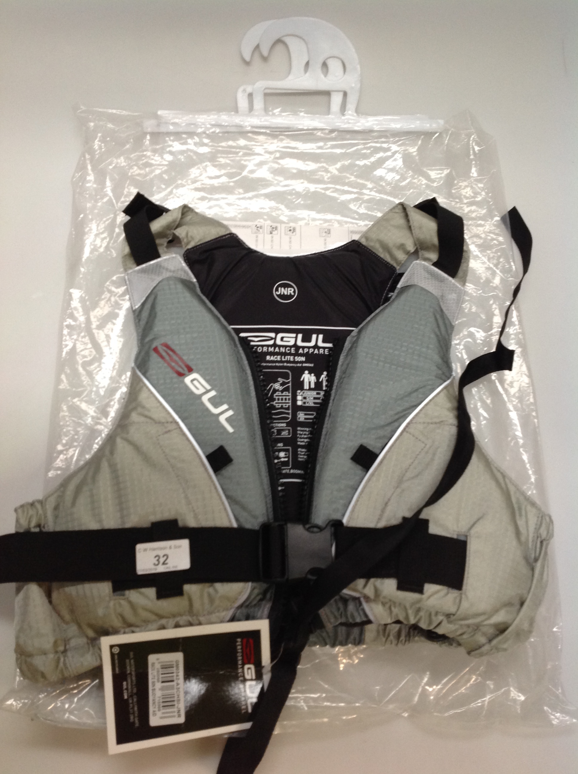 Lot 32 - Gul Race Lite 5ON buoyancy aid in silver - size junior
