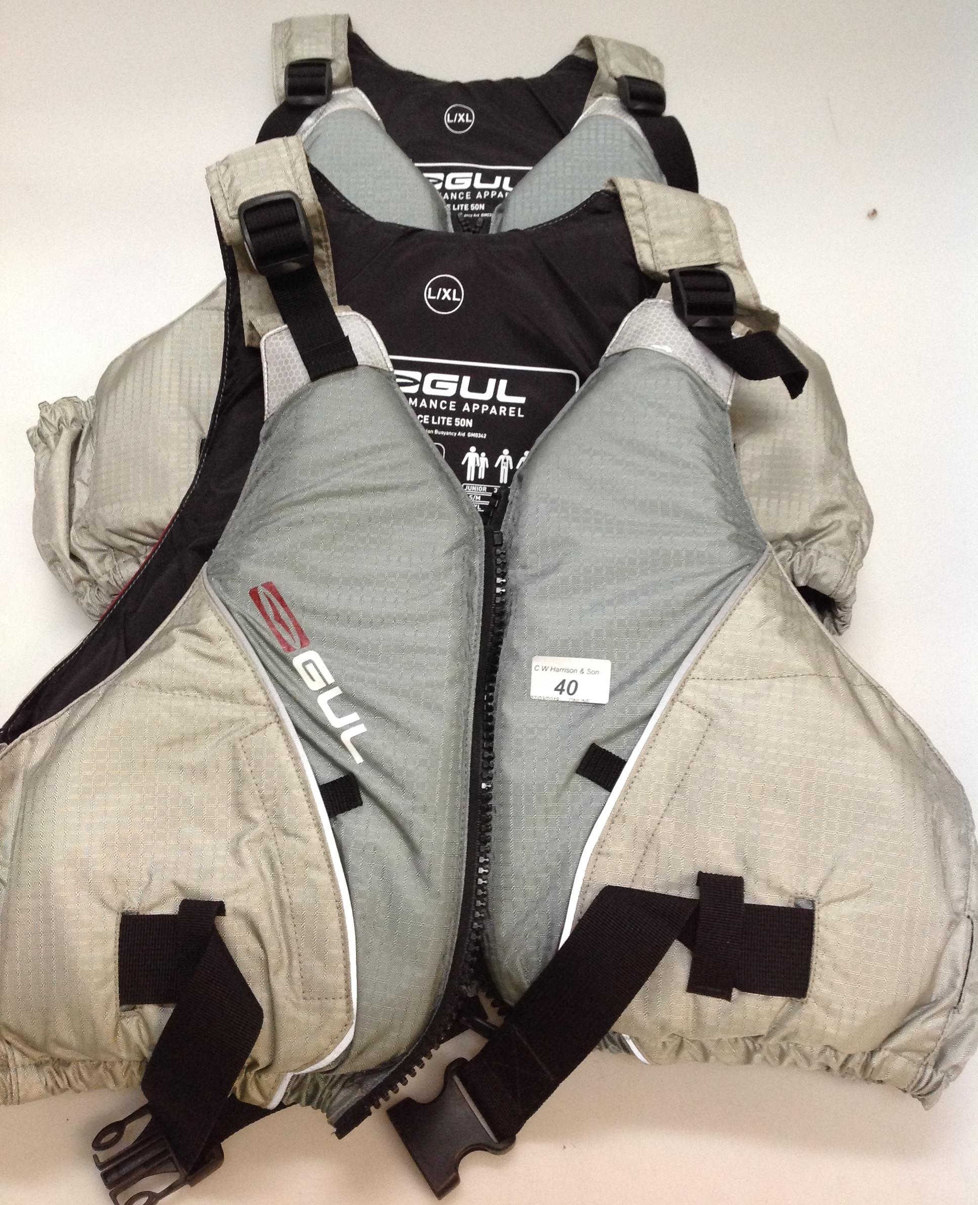 Lot 40 - 2 x Gul Race lite 5ON buoyancy aid - size L/XL (as seen)