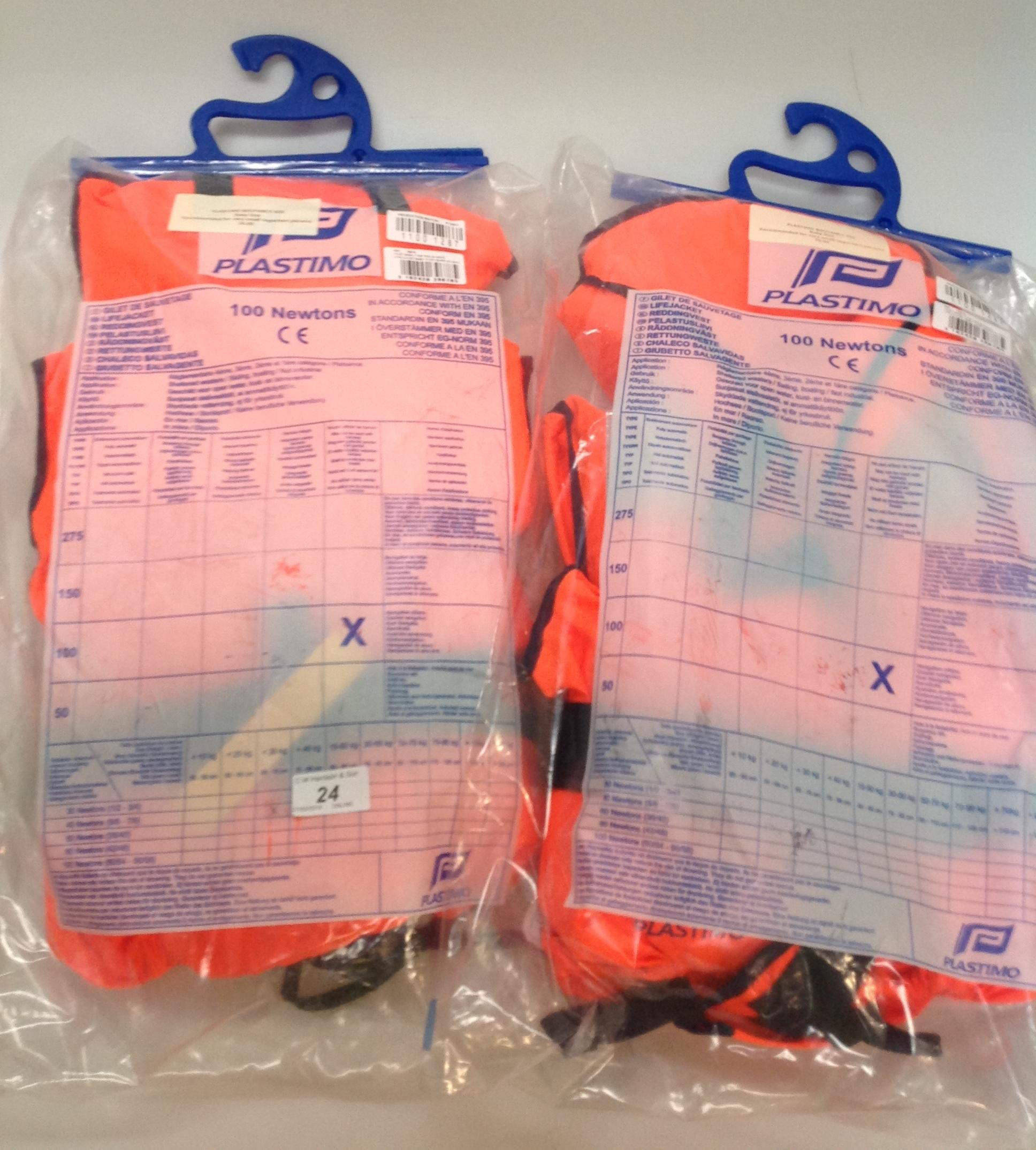 Lot 24 - 2 x Plastimo baby 100 Newtons buoyancy aids - (RRP £36)