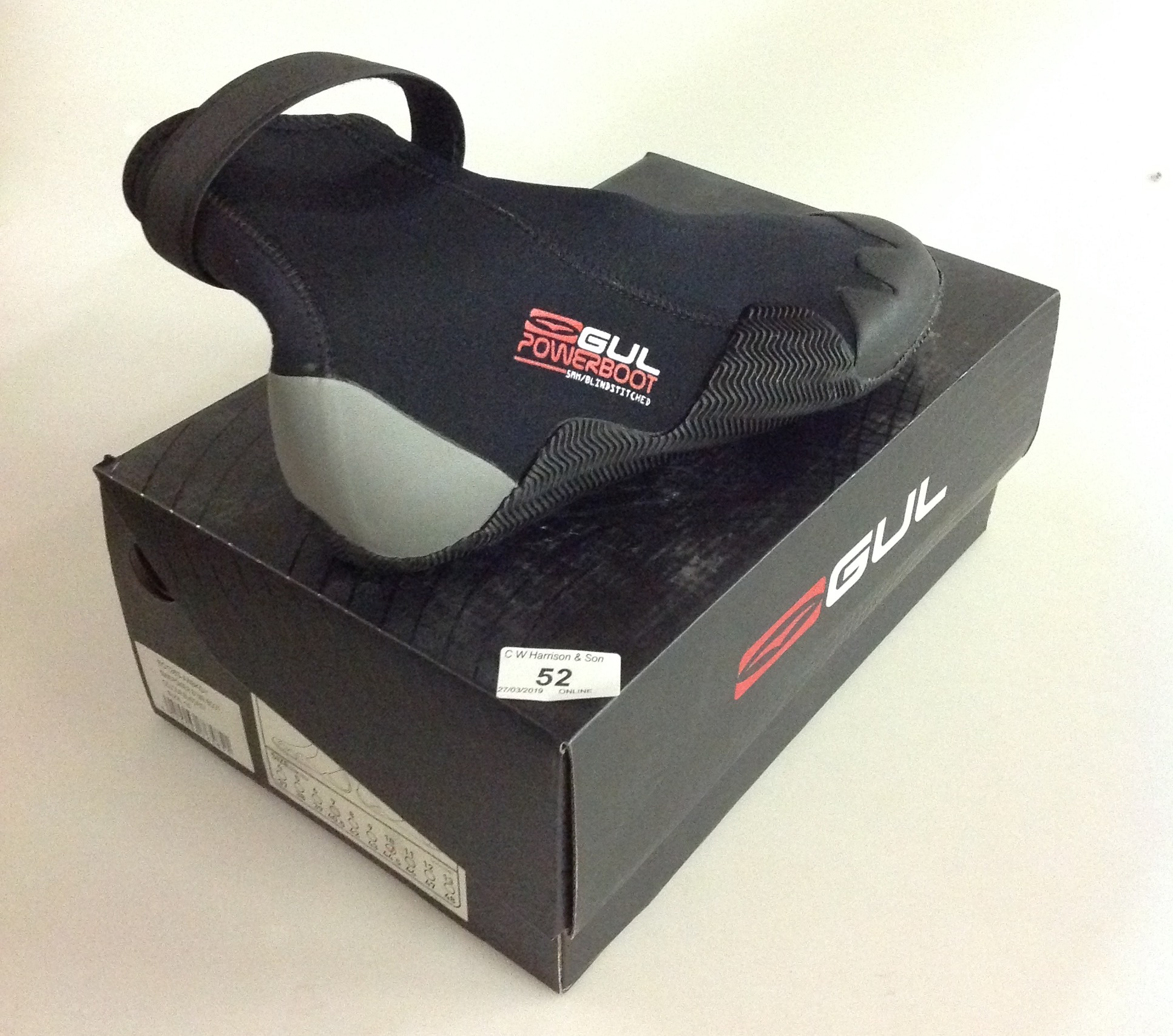 Lot 52 - Gul 5MM Power STMR boot in black and grey - size 10