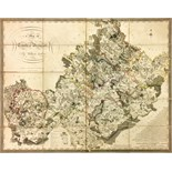 Lot 550 - Co. Westmeath Grand Jury Map: Larkin (Wm.) A Map of the County of Westmeath, a lg. fold. hand cold.