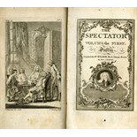 Lot 561 - Dublin Printing: The Spectator, 8 vols. sm. 8vo D. (for W. Wilson) 1778. 8 finely engd.