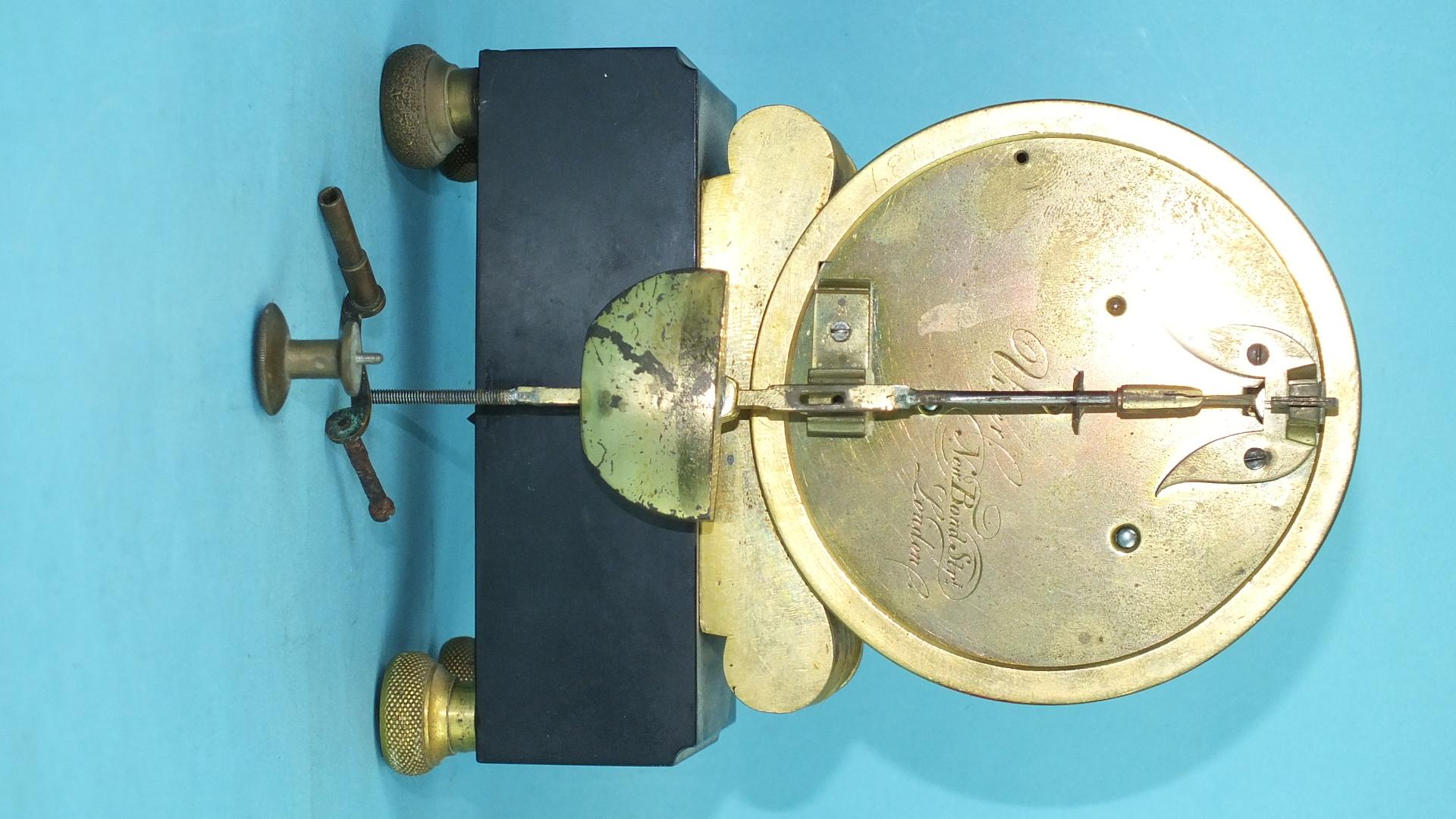 Lot 115 - Viner, New Bond Street, London, an early-19th century ormolu mantel clock, the circular engraved