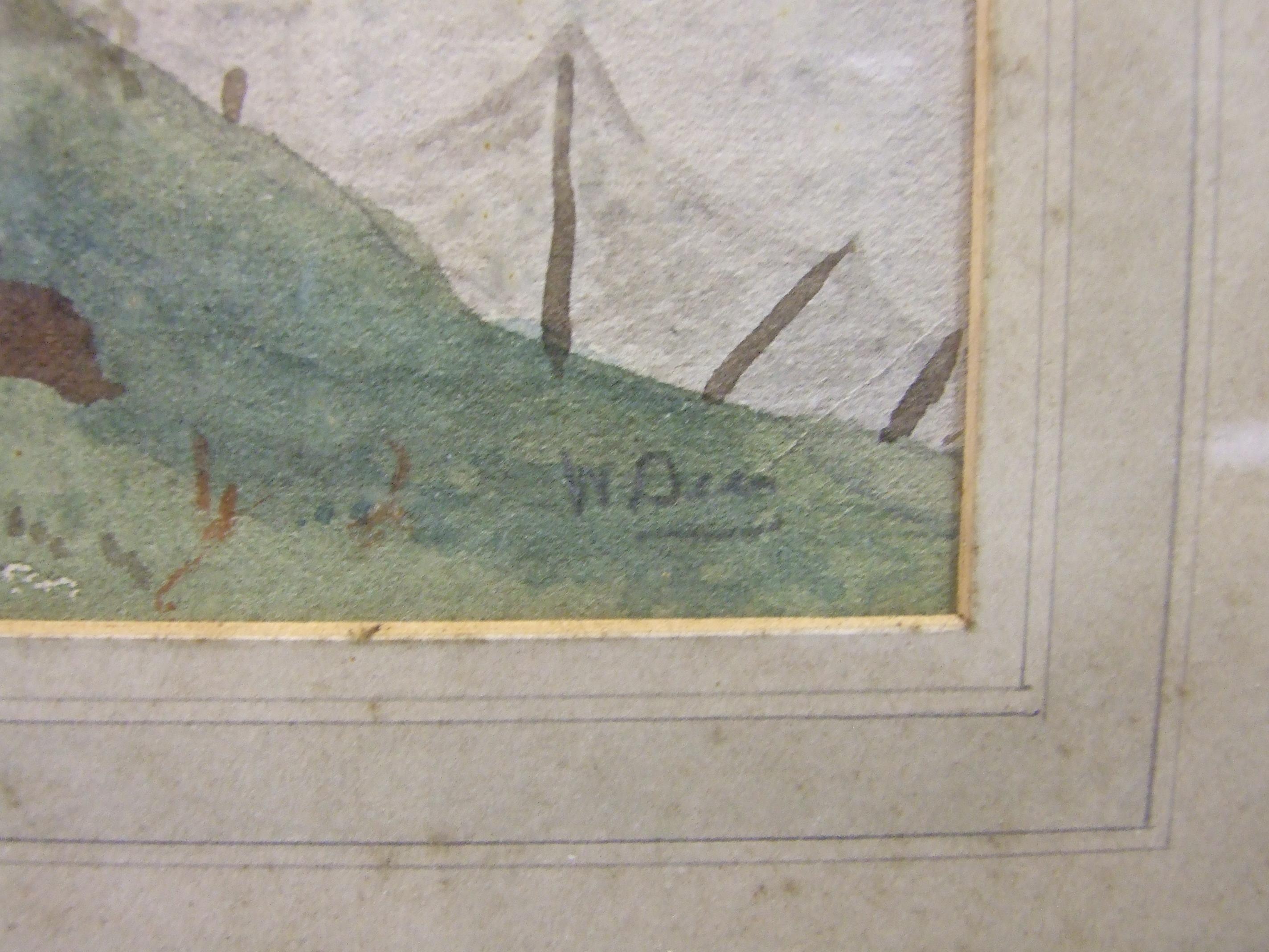 Lot 38 - W D** SCOTTISH CROFT Indistinctly-signed watercolour, 23 x 30cm.