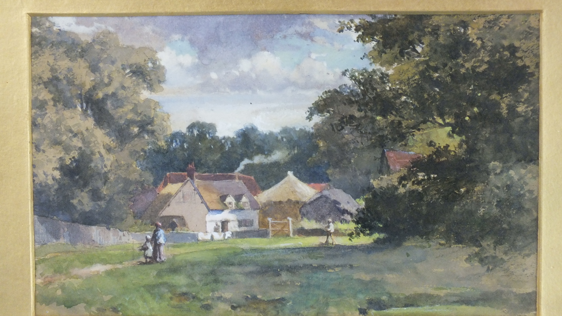 Lot 28 - M Smythson (19th century) DUCKS ON A STREAM WITH BARN IN BACKGROUND Signed watercolour, dated
