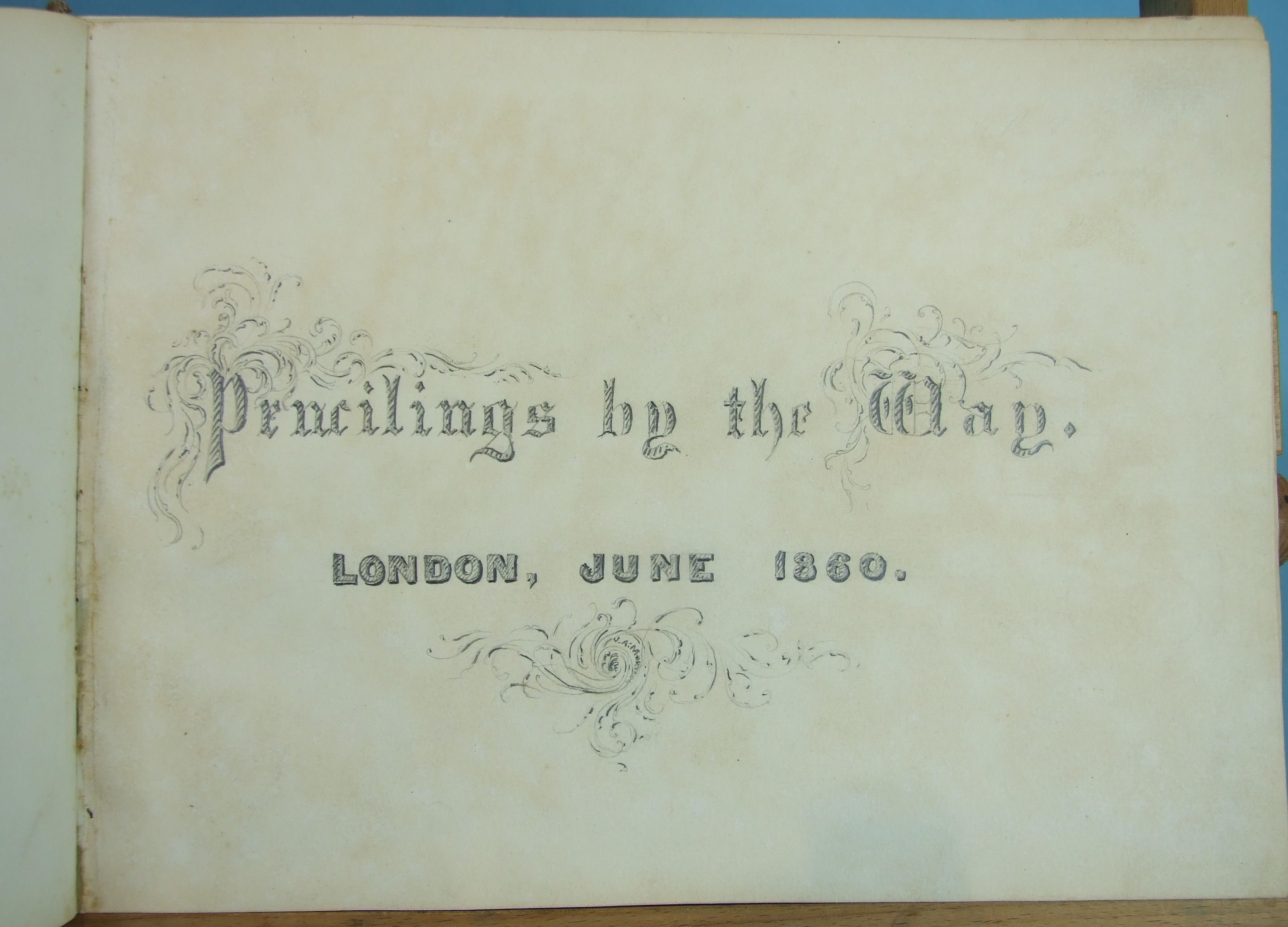 Lot 40 - James A Morrison, a similar album of sketches dated 1860, including views around Stratford-Upon-