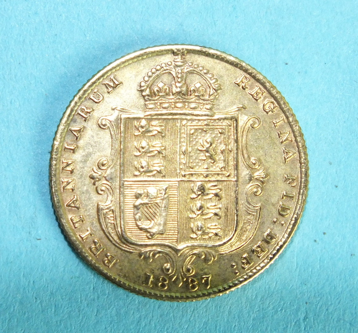 Lot 360 - A Queen Victoria 1887 half-sovereign, Jubilee head.
