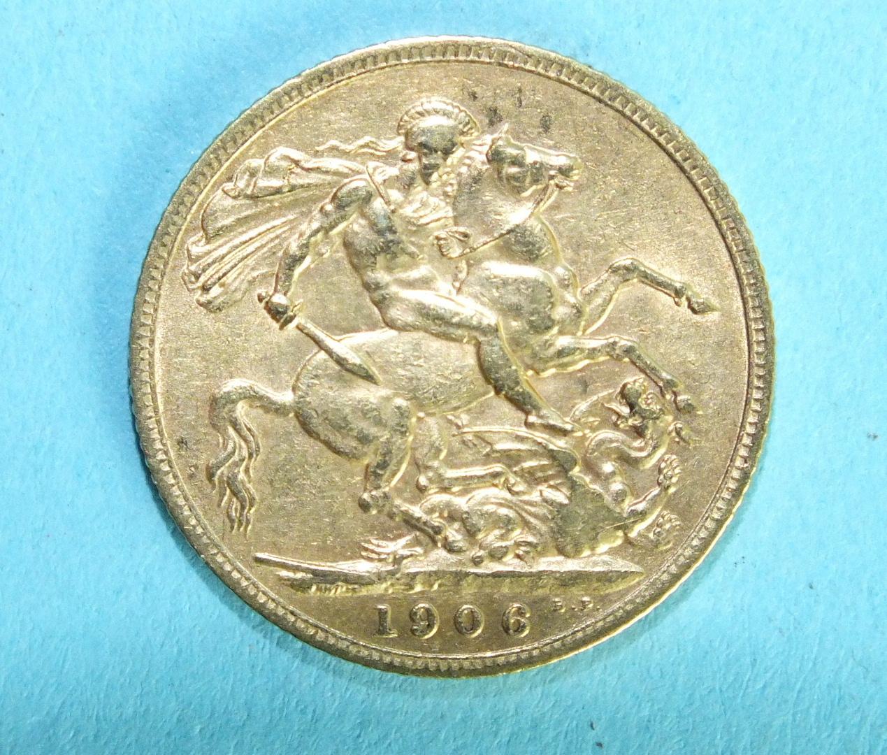 Lot 370 - An Edward VII 1906 sovereign.