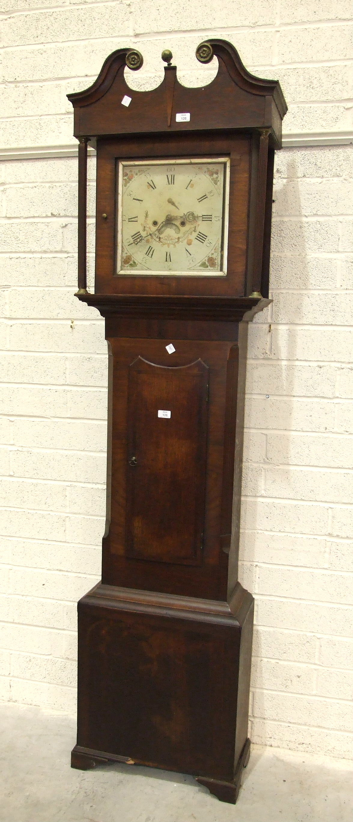 Lot 120 - A late-Georgian mahogany long case clock, the painted dial marked Samuel Cotterell, Illminster, with