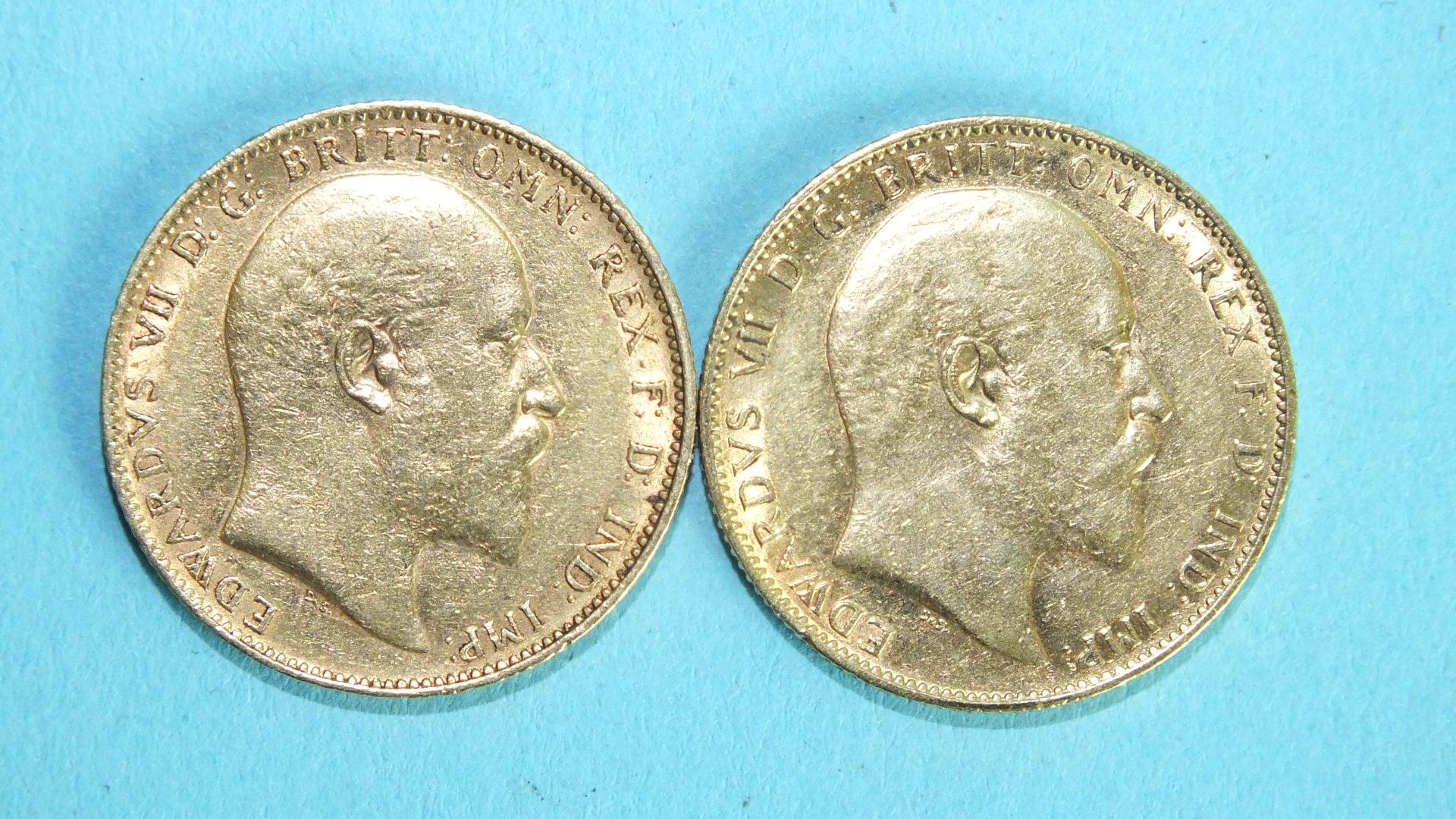 Lot 368 - Two Edward VII 1903 sovereigns, (2).