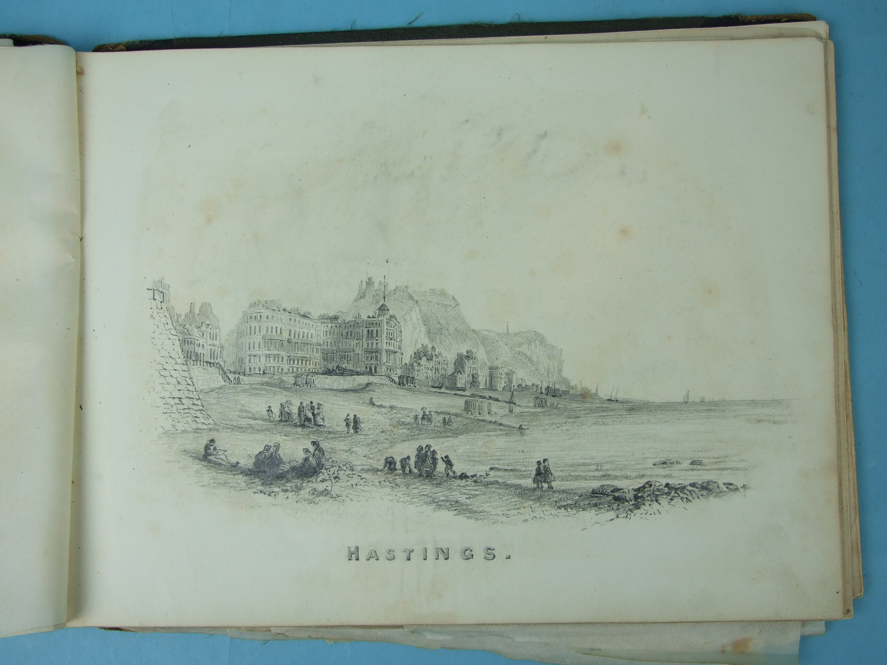 Lot 39 - James A Morrison, 'Pencil Drawings By The Way, designed and drawn by James A Morrison, 1866', an