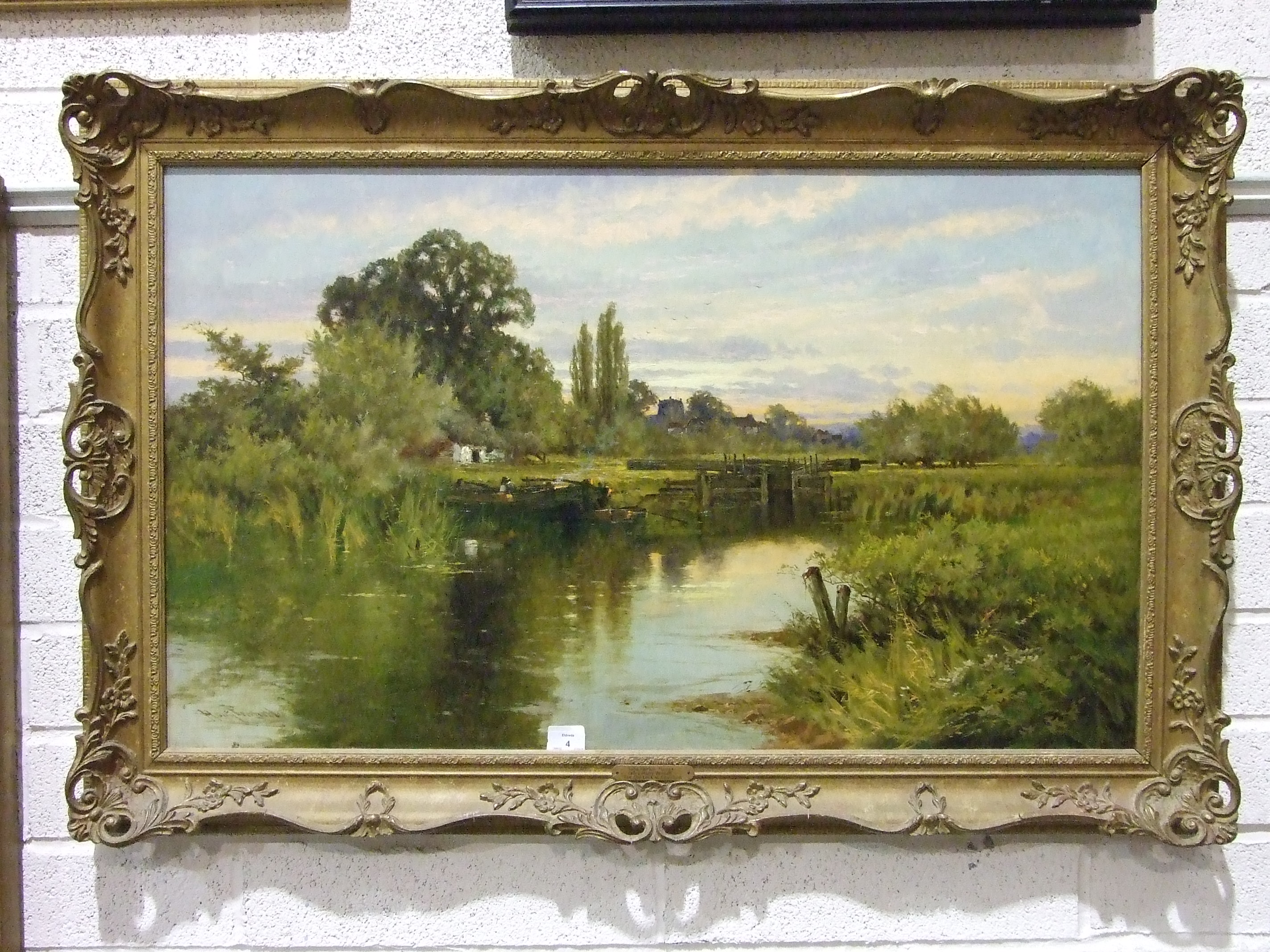 Lot 4 - John Horace Hooper (called Harry Pennell) (1837-1912) THE OLD LOCK AT COOKHAM Signed oil on