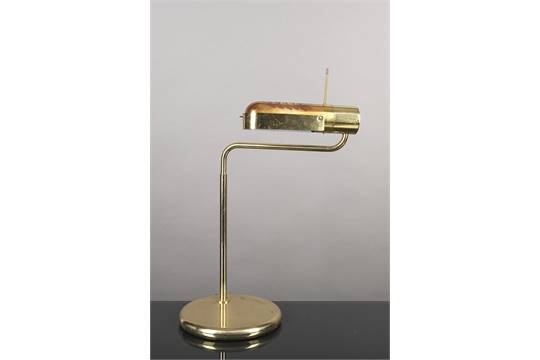 Lampe de bureau en laiton par relco milano italy h cm