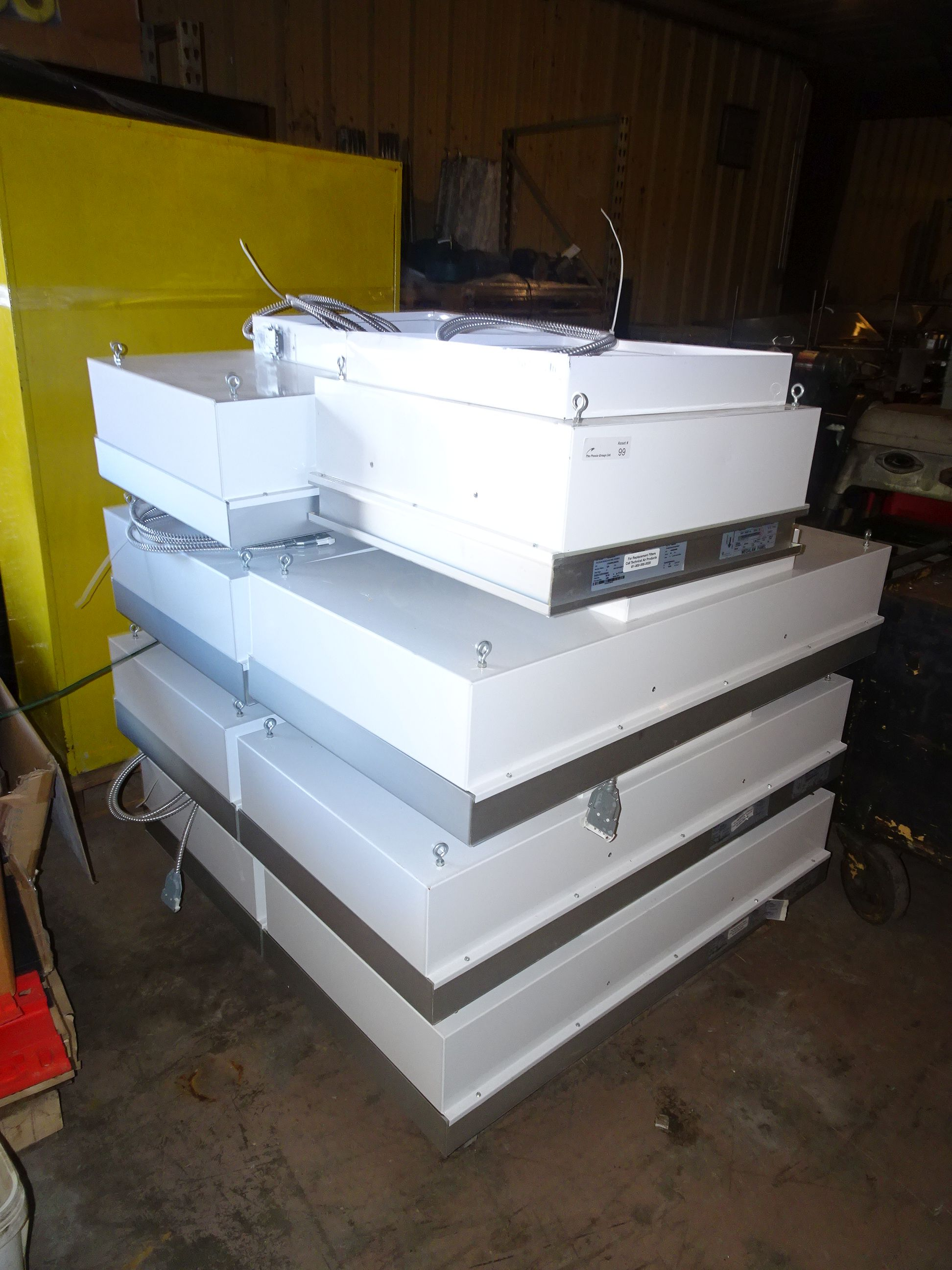 """Lot 7 - (7) Technical Air Products Inc 48"""" x 24"""" Downflow Ceiling Panels"""
